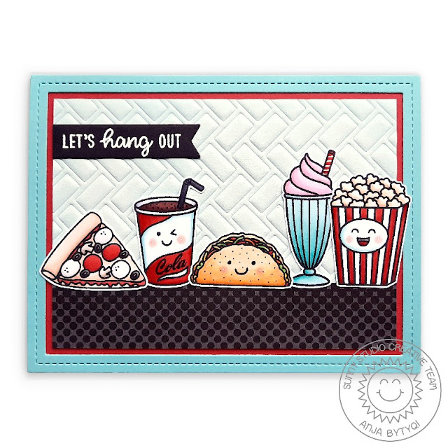 Sunny Studio Stamps: Frilly Frame Dies Fast Food Fun Breakfast Puns Summer Sweets Punny Friendship Card by Anja Bytyqi
