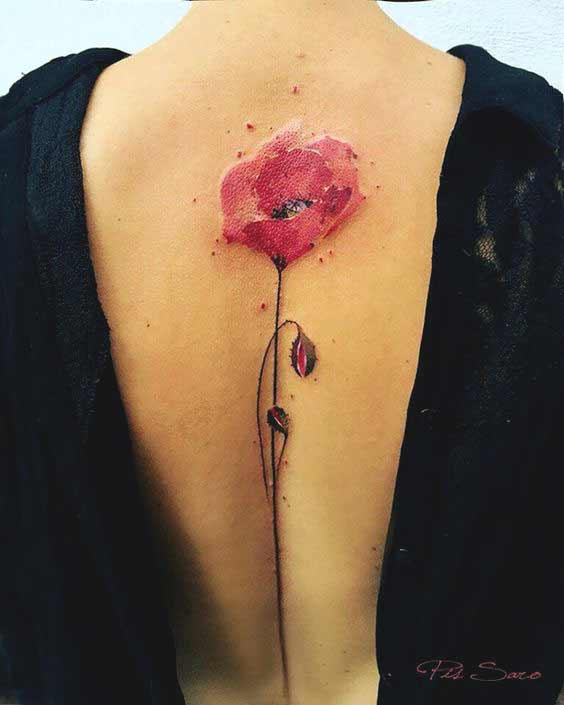 hibiscus flower tattoos for girls