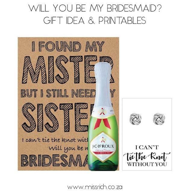 bridesmaid proposal gift idea