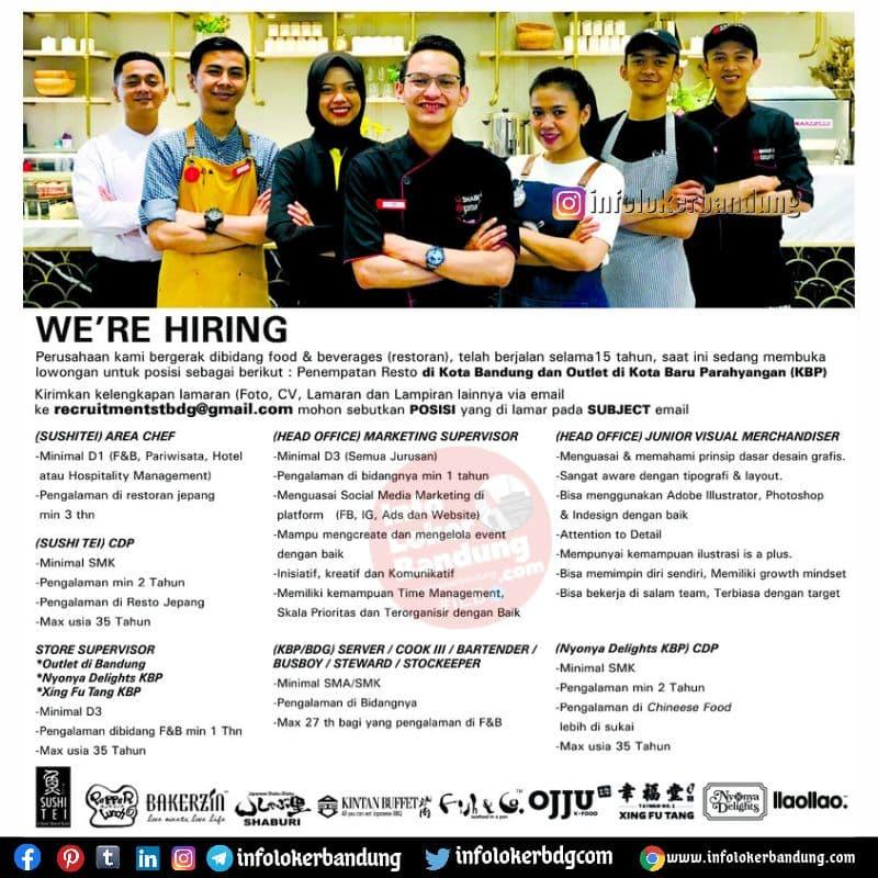 Lowongan Kerja Sushitei Group Bandung Juli 2021