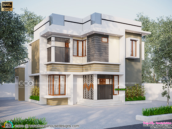 1500 sq-ft modern house elevation