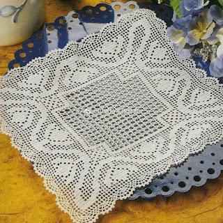 Square doily filet crochet