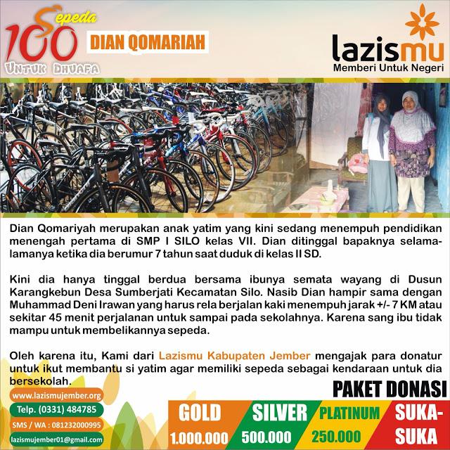 Aksi 100 Sepeda Pelajar Dhuafa
