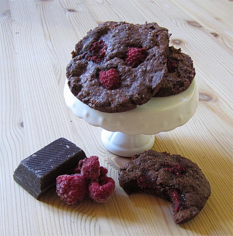 Schoko-Himbeer-Cookies