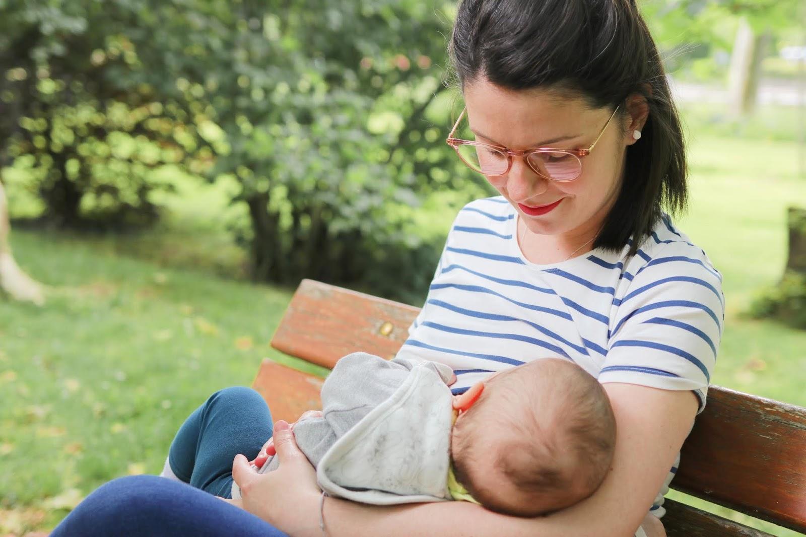 look comment s'habiller idée tenue allaitement allaiter vêtement pratique en public bébé robe tee shirt milker mariniere