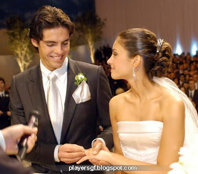 Kaka and His wife Caroline Celico