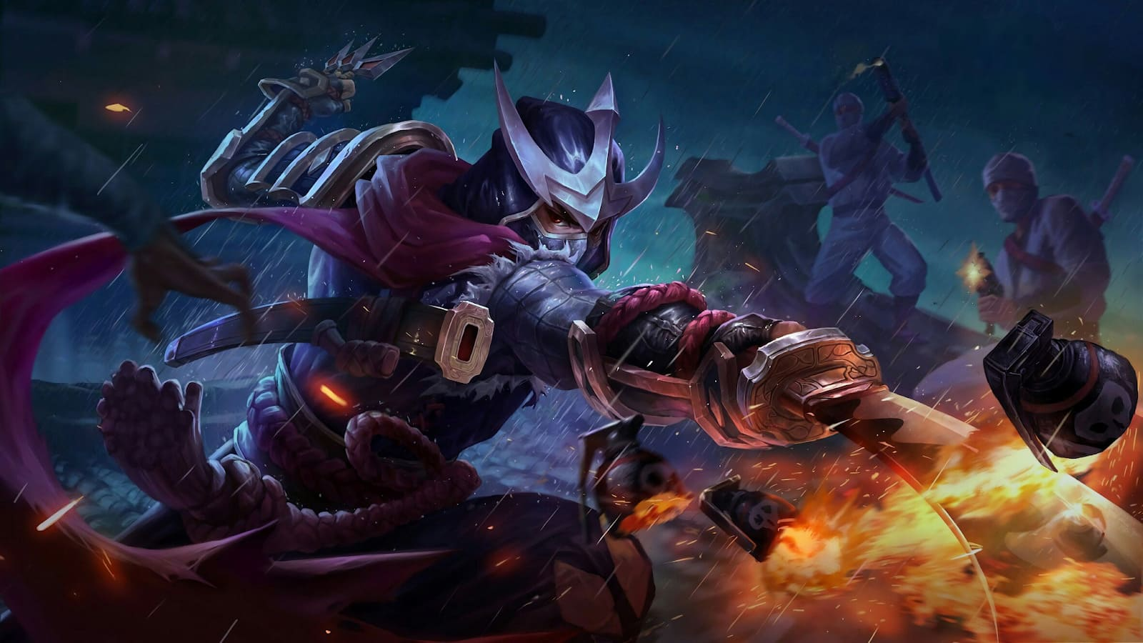 Wallpaper Hayabusa Crimson Shadow Skin Mobile Legends HD for PC