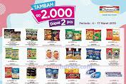 Promo Indomaret + Rp.2.000 Dapat 2 PCS Periode 4 - 17 Maret 2020
