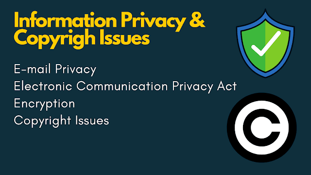 Information Privacy & Copyright Issues - Digital Communication