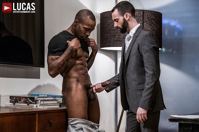 LucasEntertainment - STEPHEN HARTE RIDES BLACK PEARL'S BIG BLACK DICK