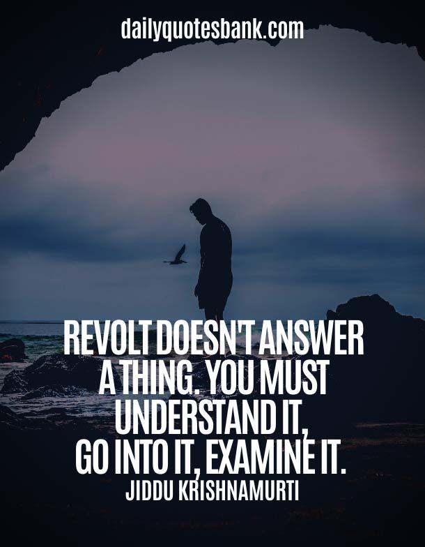 Inspirational Jiddu Krishnamurti Quotes