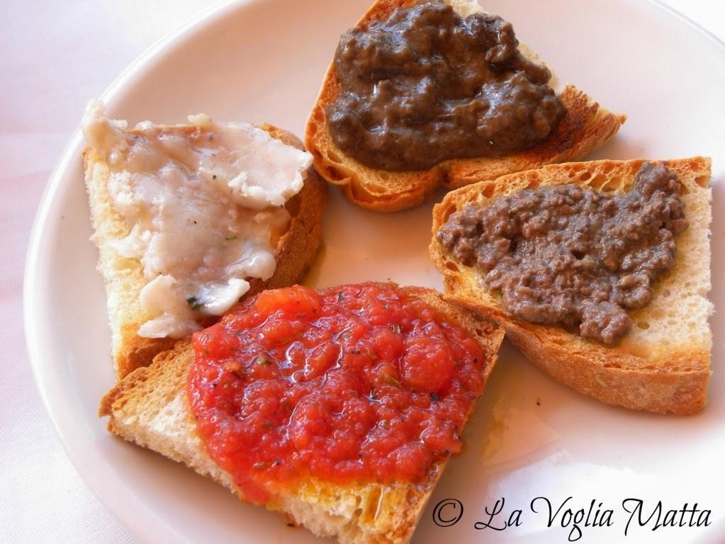 Taverna del Guerrino Montefioralle Chianti Toscana bruschette