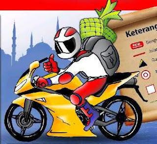 gambar dp bbm mudik pulang kampung naik motor sendiri