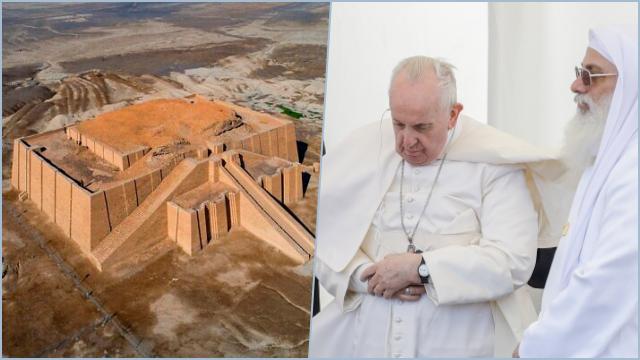 Paus Fransiskus Dengar Lantunan Alquran di Kota Kelahiran Nabi Ibrahim di Iraq