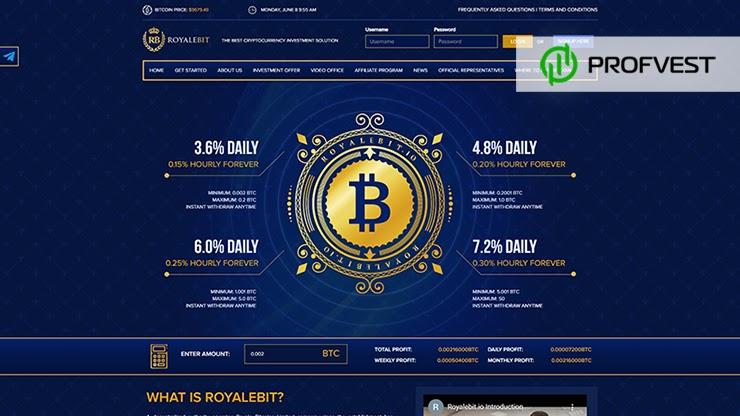 RoyaleBit обзор и отзывы HYIP-проекта