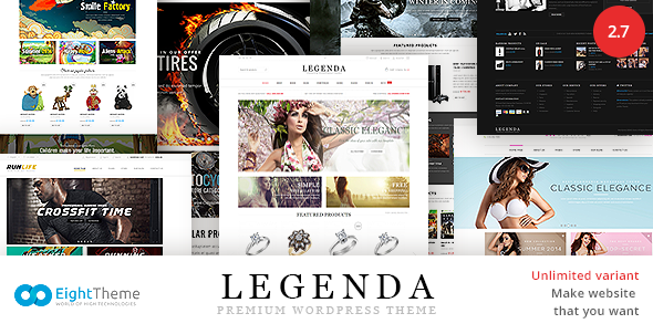 Legenda v3.0 - Responsive Multi-Purpose WordPress Theme