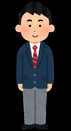 留学生のイラスト(制服・アジア人男性)