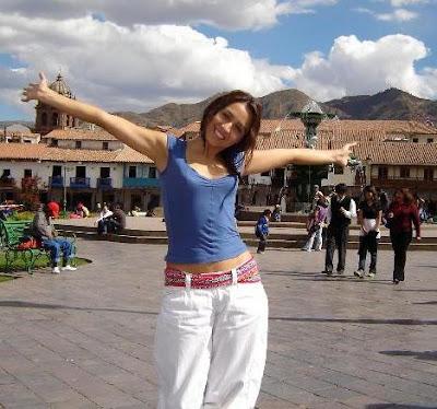 Foto de Marisol Muguerza en la sierra peruana