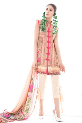 Ethnic by outfitters summer lawn designs 2017