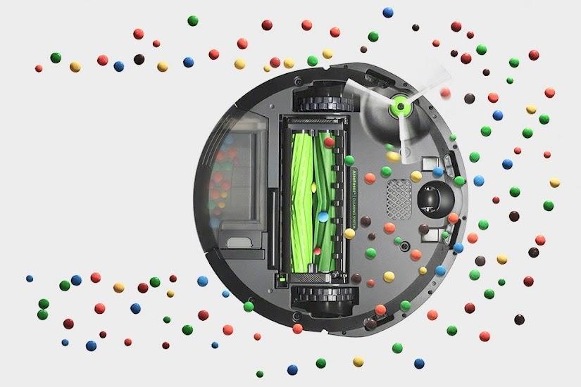 Los cepillos del robot aspirador Roomba e5