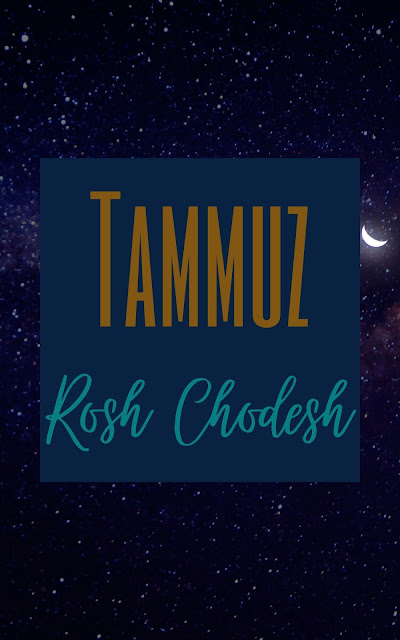 Happy Rosh Chodesh Tammuz Greeting Card | 10 Free Cute Cards | Happy New Month | Fourth Jewish Month