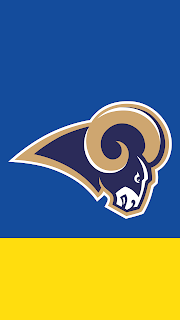 Wallpaper Los Angeles Rams blue e yellow para celular gratis