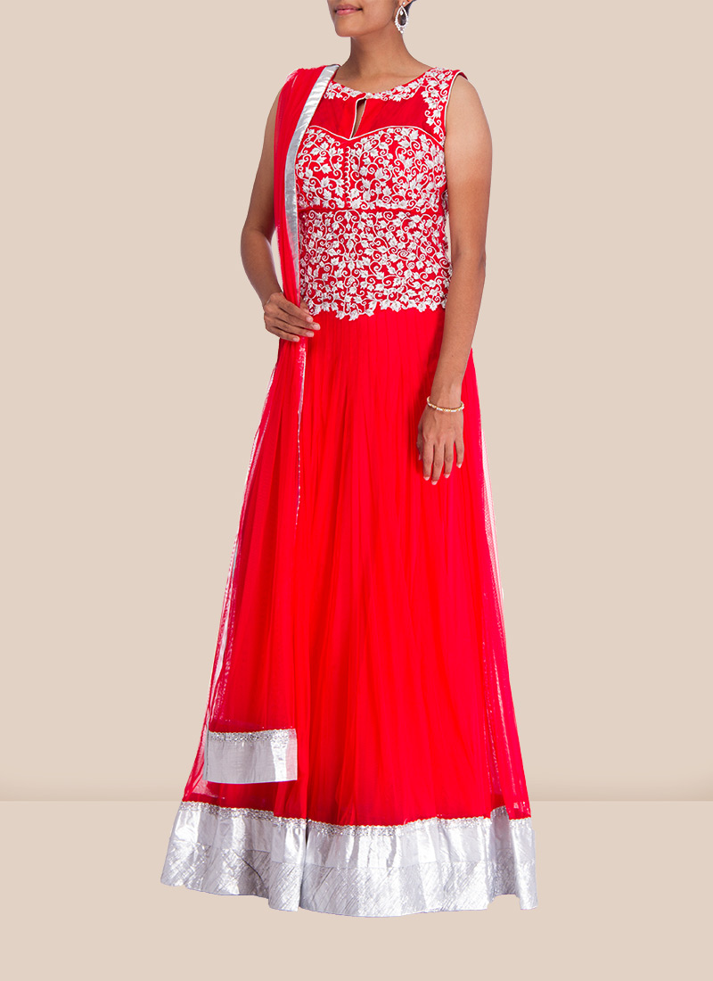 Fab Pink Floor Length Anarkali Suit