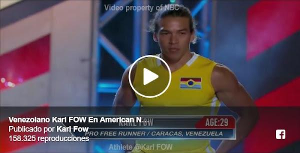"Venezolano refugiado triunfa en el programa ""Guerrero Ninja Americano"""