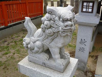 姫嶋神社元楯社狛犬