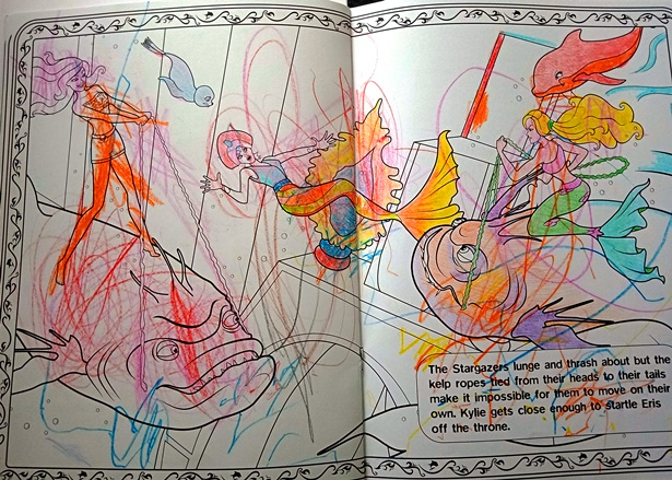 Colouring in with the granddaughters - so much fun!