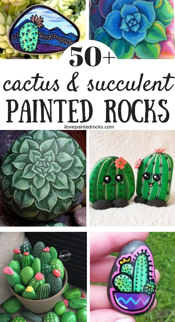50 Painted Rocks That Look Like Succulents Cacti I Love