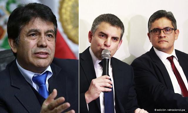 Tomás Gálvez, Fiscales Rafael Vela y Domingo Pérez
