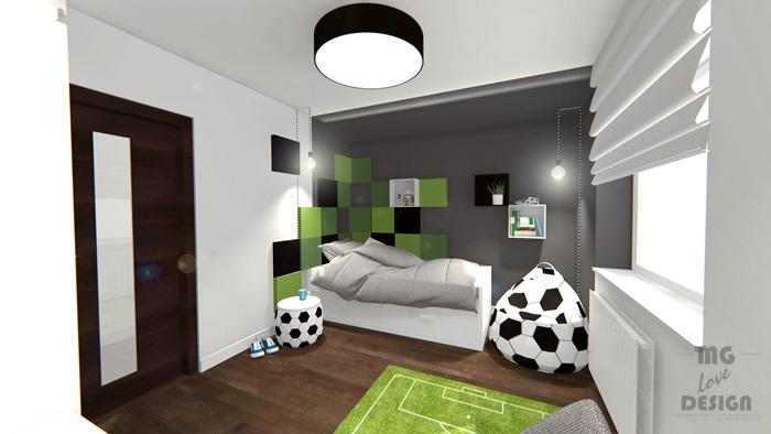 4 Pokój dla chłopca - piłka nożna - architekt wnętrz Nysa Głuchołazy