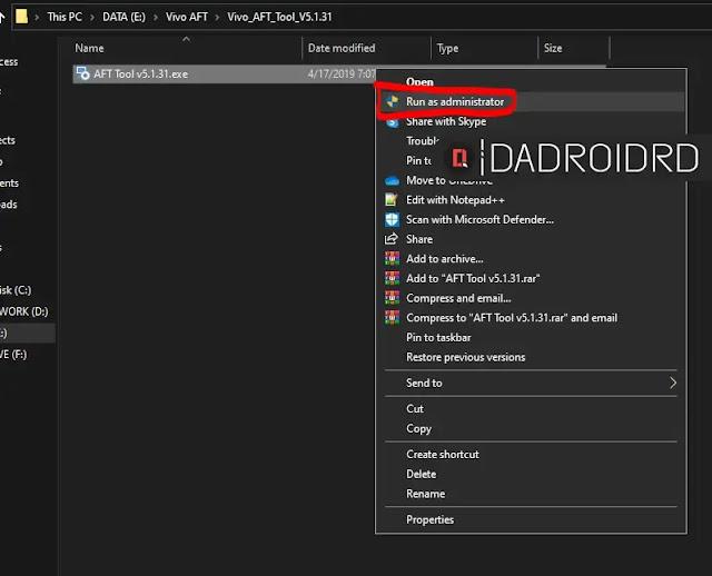 Download Vivo Flash Tool / Vivo AFT Tool versi Terbaru