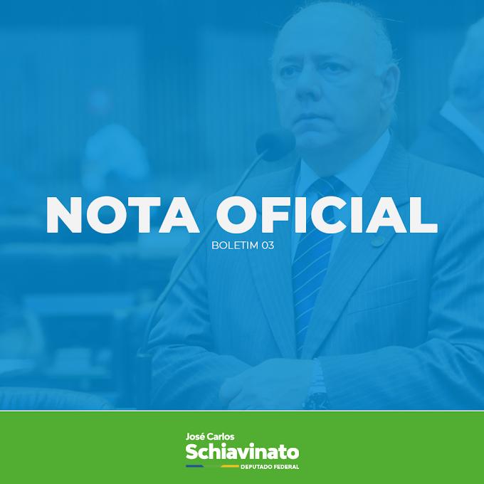 Deputado Schiavinato segue estável mas não deve ganhar alta logo