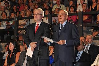 Giorgio Napolitano, e il Presidente della Repubblica di Croazia, Ivo Josipović