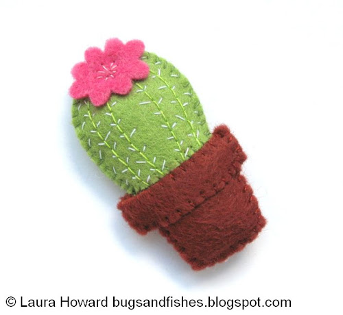 image tutorial diy felt cactus bugs and fishes