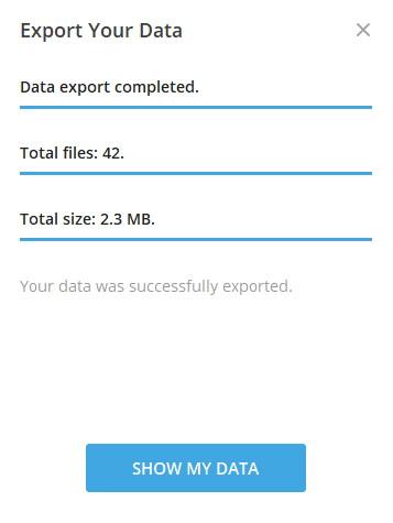 Ekspor Data Chat Telegram Selesai