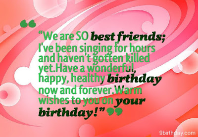 Happy Birthday Wises Cards For friends: we are so best friend;