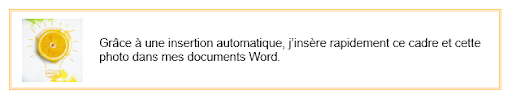 Exemple insertion automatique Word - sb astuces