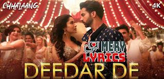 Deedar De Lyrics By Asees Kaur, Dev Negi