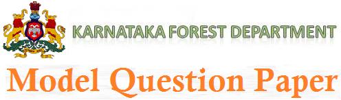 KAR Forest Dept Model Question Paper 2017 Answer Key