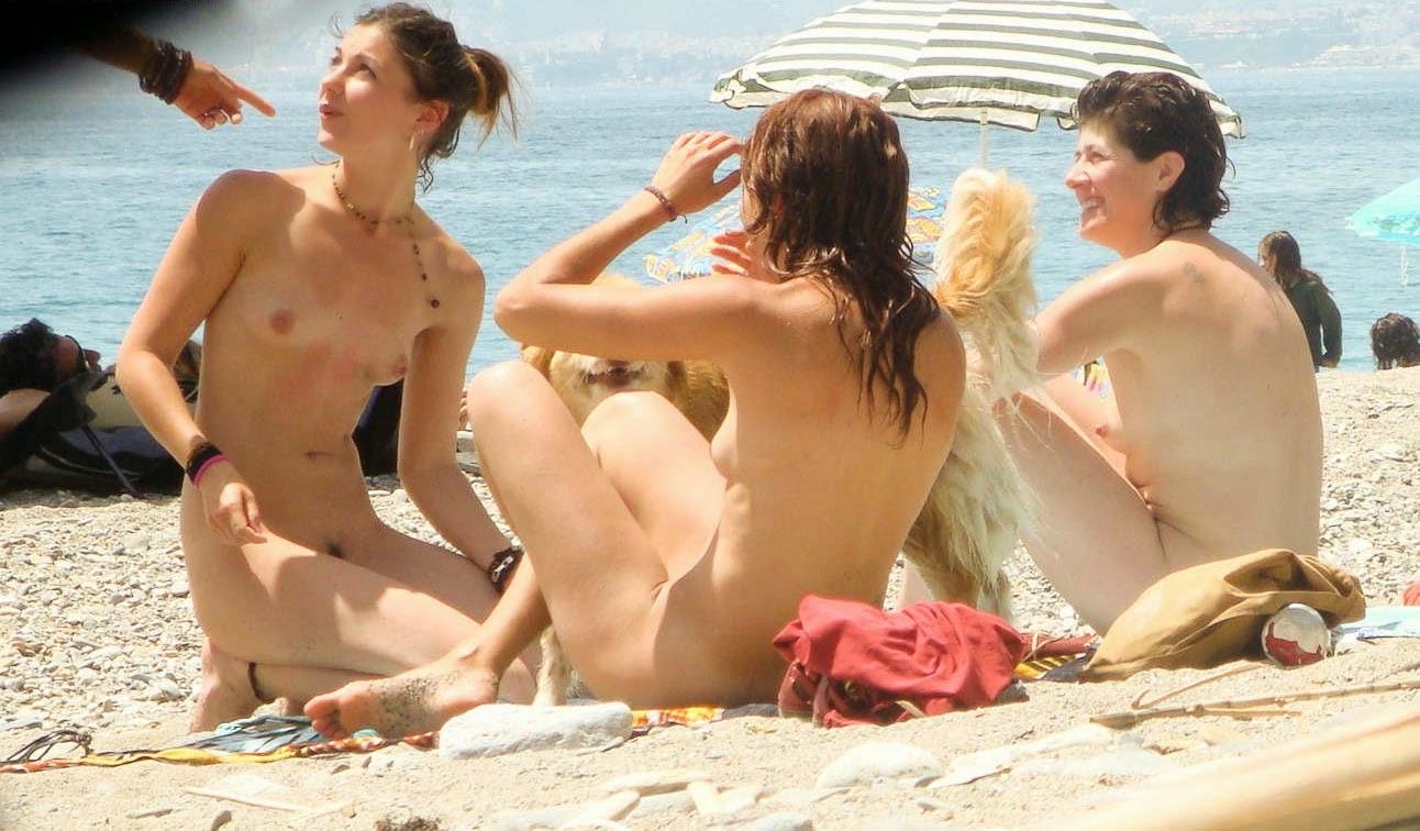 caught sunbathing nude