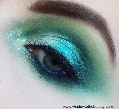 party blue green makeup tutorial
