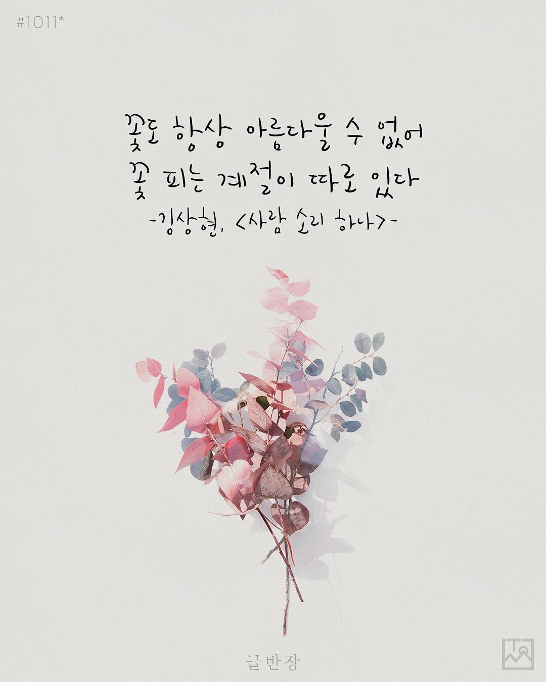꽃도 항상 아름다울 수 없어 - 김상현, <사람 소리 하나>