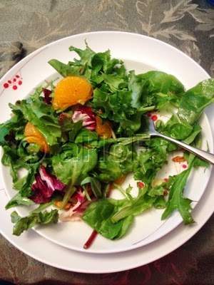 Baby Greens, Mandarin Oranges and Candied Almonds