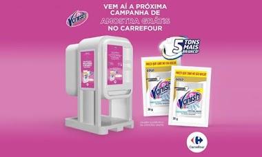 Amostras Grátis de Vanish serão distribuídas em lojas Carrefour