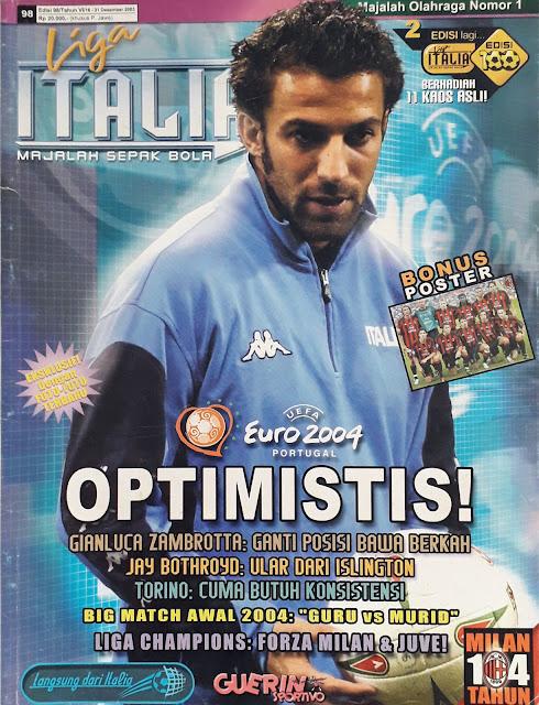 ALESSANDRO DEL PIERO OF ITALIA ON FOOTBALL MAGAZINE COVER
