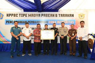 Wakil Wali Kota Menghadiri Pencanangan Pembangunan ZI Menuju WBK dan WBBM di KPPBC Tipe Madya Pabean B Tarakan - Tarakan Info