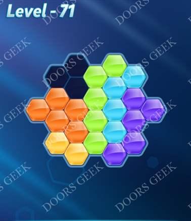 Block! Hexa Puzzle [Intermediate] Level 71 Solution, Cheats, Walkthrough for android, iphone, ipad, ipod